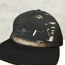 dbd29e7f VANS OFF THE WALL Classic Patch Trucker Black on Black Skater Hat Cap  SnapBack