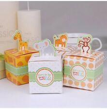 20 x Born to be Wild Zoo Animals Bomboniere Candy Box Treat Sweets Favours