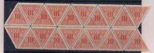 z1499 BOLIVIA Sc J2 Block 20 Triangle Stamps MNH 1931