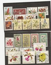lot 65  timbres FLEURS de RDA DDR allemagne de l'est orientale  3 scans