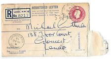 Registered Letter 15/2/52 No 8213 Park Rd, Regents Park NW16 to Gloucester