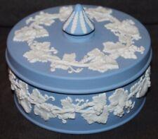Vtg 1963 WEDGWOOD Blue Jasperware POWDER JAR