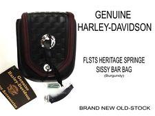 Harley Davidson FLSTS Heritage Springer Softail Sissy Bar Bag Saddlebag Burgundy
