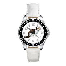 LaPerm Cat Breed Mens Womens Unisex Fashion Leather Band Quartz Wrist Watch