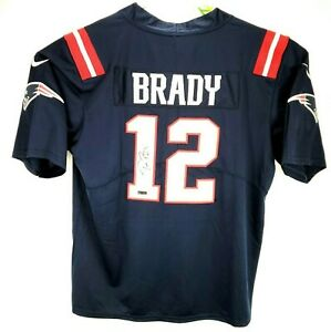 Tom Brady Hand Signed Autographed New England Patriots Nike Jersey With COA