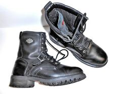 Men's Harley Davidson Size 10 Black Leather Motorcycle Buckle Street Style Boots
