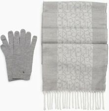 NWT Calvin Klein Monogram Logo Women's Scarf + Glove Set (Choose Color) $58
