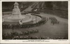 Coronation Procession 1911 Real Photo Postcard Special Stamp & Cancel