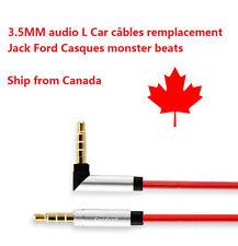 3.5MM Audio L Câble Rouge remplacement Jack Ford Bose Casques monster beats A024