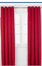46x54 Rouge Coquelicot Rideaux à anneaux Made Enfants Filles Garçons Chambre à Œillets