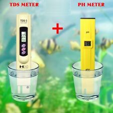 TDS Tester Aquarium Pool Hydroponic Water Monitor 0-9999 PPM + Digital PH Meter