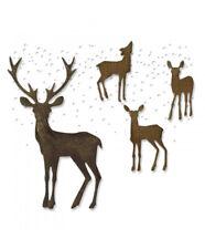Sizzix Thinlits Die Set 5PK - Winter Wonderland Deer Christmas