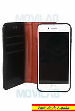 Funda piel tapa libro 2 en 1 twin gel TPU tarjetas Apple Iphone 7 Plus 5.5´negro