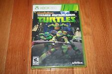 Brand New Factory Sealed Xbox 360 Nickelodeon Teenage Mutant Ninja Turtles