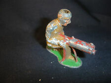 Old Vtg Antique Collectible Lead Toy Soldier Kneeling Aiming Gun