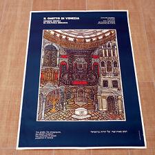 IL GHETTO DI VENEZIA poster manifesto affiche Sinagogues Jewish Museum B84
