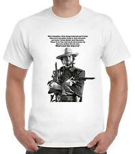 Clint Eastwood T-Shirt Cowboy Western Spaghetti Josey Wales quote mad dog