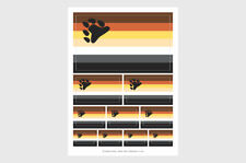 Bear Flag Weatherproof Stickers / 10 Bear / Otter Flag Stickers Various Sizes