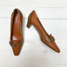 Prada Tan Court Shoe Size 38.5 Unworn
