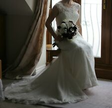 17510f62550 Sincerity Wedding dress Lace Justin Alexander Jacket Size 10 Excellent  condition