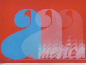 Jack Brusca (1939 - 1993) America 1977 serigraph HAND SIGNED USA NEW YORK ARTIST