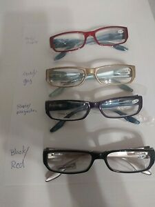 JM New York Reader Glasses 2.50 with Pouch - NEW