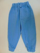 Vintage 80 SENZA MARCA Bambino Pantaloni Tuta 3 4 Anni Tracksuit Pants Azzurro