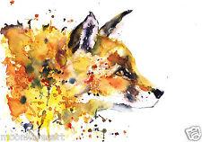 COLOURFUL FOX PORTRAIT PAINTING PRINT