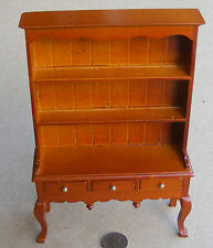1:12 Scale Oak Colour Queen Anne Dresser Dolls House Miniature Kitchen Accessory