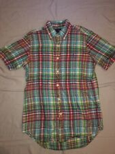 RALPH LAUREN POLO Mens Size S Plaid Button Down Short Sleeve Shirt Perfect