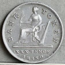 More details for george iii silver thirty pence irish bank token, 1808. gf. s.6616