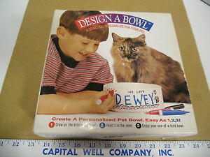 """Design & Create A Personalized Dog or Cat Pet 7"""" Round Bowl For Your Pet - NEW"""