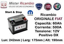 71777953 - Batteria ORIGINALE Fiat / MOPAR 60Ah 500EAN Start&Stop