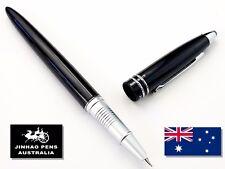JINHAO 800 Gloss Black Fountain Pen Extra Fine Nib + 5 Black Cartridges