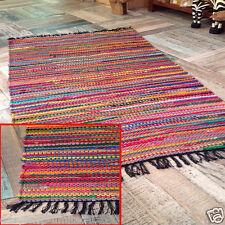 MULTICOLOR Chindi area commercio equo e solidale Rag Tappeto stava cotone riciclare MAT 60X90CM