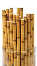 24 Bamboo Paper Drink Straws Luau Beach Tropical Party ALOHA Barware
