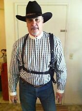 DOC HOLLIDAY TOMBSTONE SHOULDER HOLSTER RIG CUSTOM MADE TO ORDER COWBOY ACTION