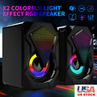 Magic Subwoofer Computer Speakers USB Wired LED Bass Stereo Player for Laptop PC