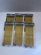 6 Ticonderoga 10 Pack 2 Pencils Pre Sharpened Yellow Lot Of 6 33892 60 Pencils