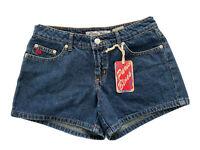 Vintage Paris Blues Soulmate Denim Shorts Dark Wash Low Rise Juniors Size 1 NWT