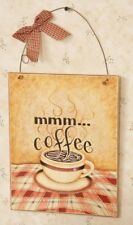 Country wood wall hanging plaque sign/ MMM COFFEE /nice