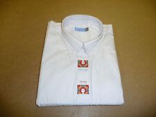 Algodón Blanco Poliéster S / Manga Camisa Oxford 3x/L 19.5 Cuello
