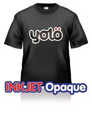 500x A4 yolö Inkjet Opaque T-Shirt Heat Transfer Paper for Dark Coloured Fabrics