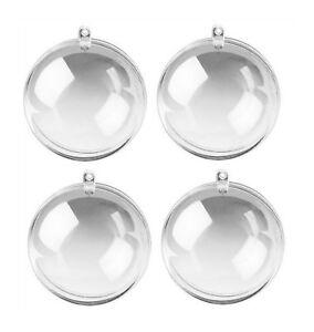 4 Acrylkugeln 5,6,7, 8, 10, 12, 14,16 cm zur Wahl transparent, Kunststoff-Kugeln
