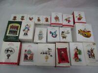Lot of 20 Hallmark Keepsake Ornaments in Boxes Santa Snowman Rudolph More!