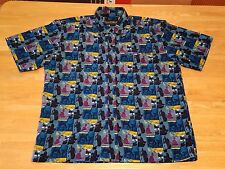 men's L Pelle Pelle Marc Buchanan - PELLE RHYTHM disc jockey Hawaiian shirt, DJ