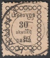 Lithuania 1918 Mi 6, Used, #1