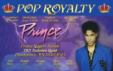 Prince Drivers License id card prop costume badge fans of Prince Rogers Nelson