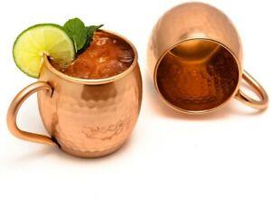 Moscow Mule Fass Tasse, Keine Beschichtung, gehämmerten Kupfer, ideal für alle