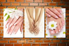 HD Canvas Print Picture Painting Spa Nail Foot Massage Salon 3pcs Wall Art Decor
